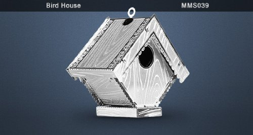 Fascinations MetalEarth 3D Laser Cut Model - Bird House by Metal Earth TOY (English Manual) Robert Laser