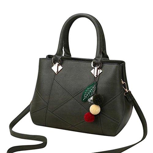 Baymate Mode-Stil Handtasche Lässig Umhängetasche Tote für Damen Grün