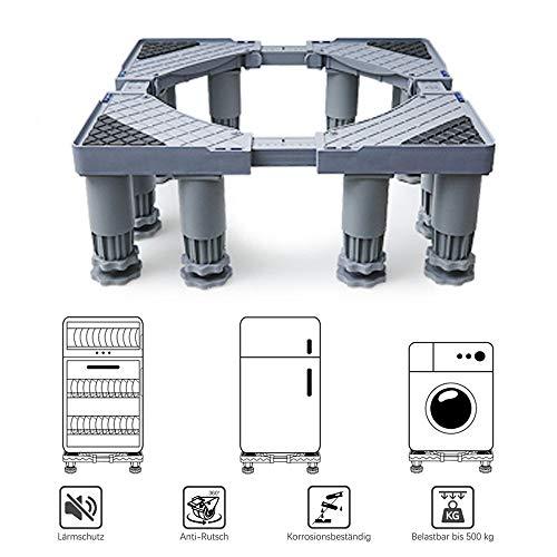 Plateau des ménages Le Poids supportable de 500 kg est Plus Stable et Plus sûr. Coussin de rehaussement du Support de la Base de la Machine à Laver à Tambour