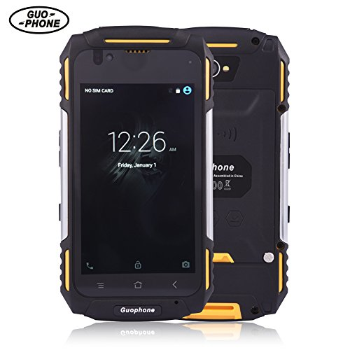 Guophone V88 Imprägniern SmartPhone MT6580 Viererkabel Kern Android 5.1 4.0Inch IPS QHD 1GB RAM 8GB ROM 8MP GPS DoppelSim 3G Handy