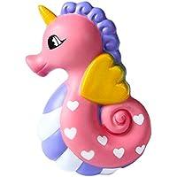Fossen Squishy Kawaii Unicornio Caballo de Mar con Olor Perfumado Squishies Slow Rising Barato en Oferta 15CM (Rosa)