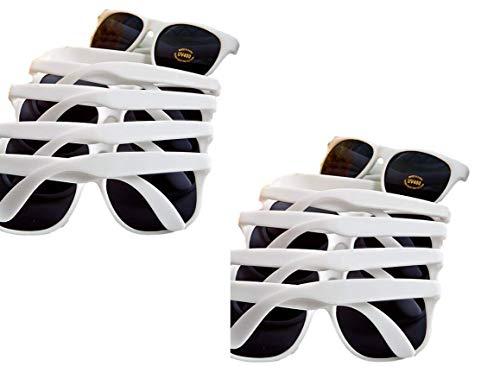Fashioncraft, Hochzeit Party Bridal Dusche Geschenk, Gastgeschenken trendige Sonnenbrille weiß