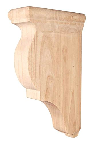 Traditional Smooth Wood bar bracket Corbel (Rubberwood) by Dubois