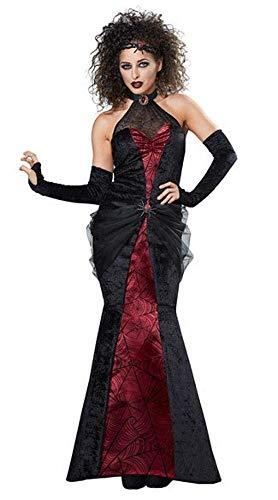 Fashion-Cos1 Sexy Hexe Königin Cosplay Halloween Karneval Schwarz Kostüm Weibliche Zauberer Kostüme Party Mädchen Outfit