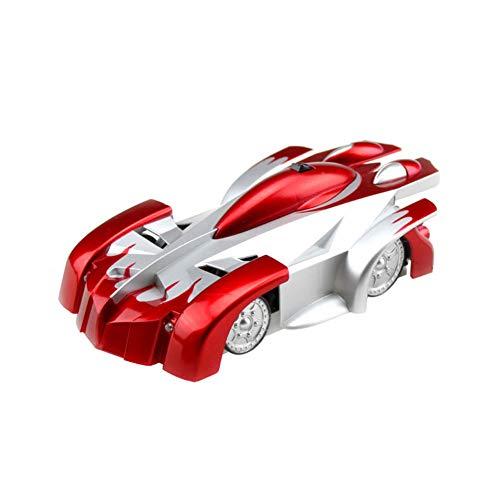 (LPRWEC Kind elektrische Fernbedienung Spielzeugauto 01.24 Anteil drahtlose Aufladen Version vertikale Kletterwand Spielzeugauto Racing Geschenk Automodell schwarz,Red)