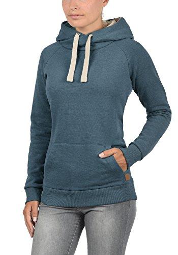 BLEND SHE Julia Damen Kapuzenpullover Hoodie Sweatshirt mit Kangurutasche aus hochwertiger Baumwollmischung Ensign Blue (70260)