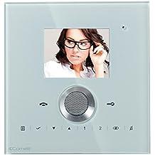 Videoportero–Monitor Comelit colores manos libres Serie planux Lux–White 6101W/C