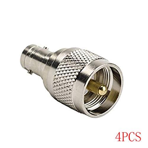 Hotaluyt 1/2/4/6 Pcs RF Koaxial Koax Adapter UHF-Stecker auf BNC-Buchse PL259 PL259 Stecker-Adapter Bnc-koax Adapter