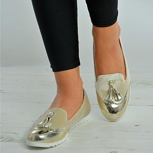 Cucu Fashion , Ballet femme Doré