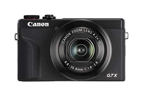 Canon PowerShot G7 X Mark III (20,1 MP, klappbares 7,5 cm (3,0 Zoll) Touchscreen-LCD, 4,2-fach optischer Zoom,WLAN, 4K), schwarz -