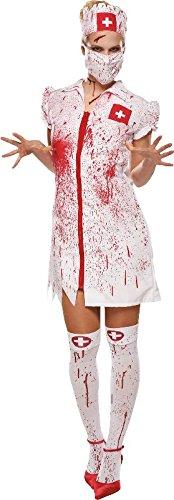 Damen Kostüm blutige Horror Krankenschwester zu Halloween Größe 36 (Blutige Krankenschwester Kostüm)