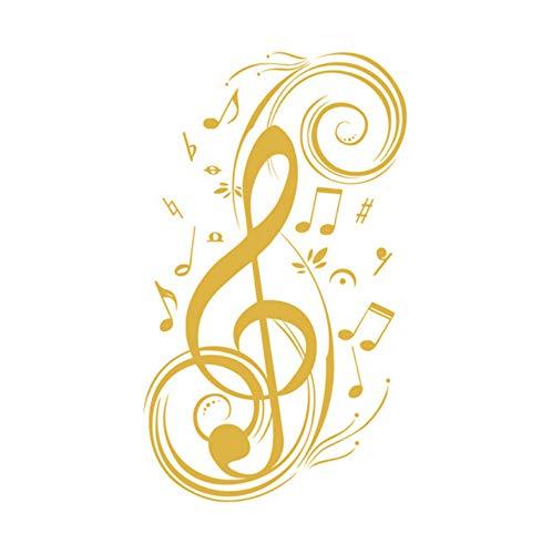 Xbwy Bella Fai Da Te Nota Musicale Home Decor Musica Adesivi Murali Per Soggiorno Musica Vinile Smontabile Decalcomanie Camere Bambini Decorazioni 34X59Cm