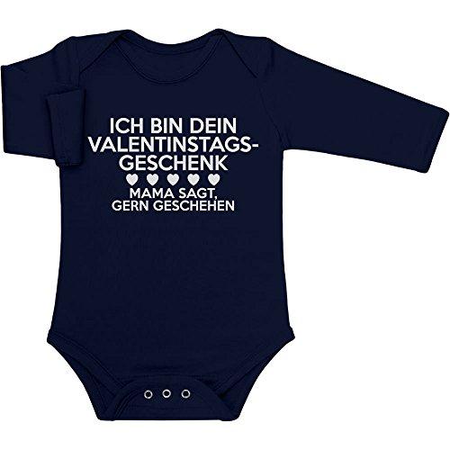 nstagsgeschenk Lustiges Geschenk für Mann Baby Langarm Body 81/86 (12-18M) Marineblau (Süßes Paar Onesies)