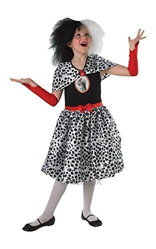Cruella De Vil - Kinder-KostŸm - 9/10 (Cruella Vil De Kinder Kostüm)