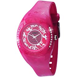 Limit Women's Quartz Watch with Pink Dial Analogue Display and Pink Plastic or PU Strap 6805.24