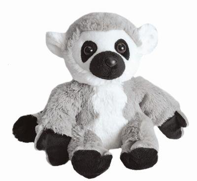 (Wild Republic Hug 'ems Plüschtier, Kuscheltier, Ringelschwanz Lemur, Katta 18 Cm)