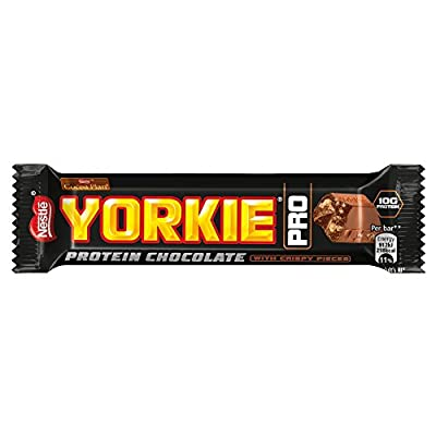 Yorkie Protein Bar | Milk Chocolate With Wheat Protein Crispies! Delicious On The Go Snack- 41.5g Each - Pack Of 5 from Nestle
