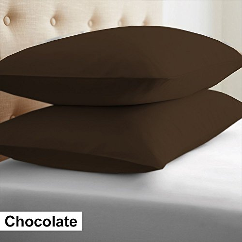 Splendid SPECIAL OFFER...!!!Set of 2 Premium Quality 600 Thread Count 100% Egyptian Cotton Solid Cushion Covers/Throw Pillow Covers 24 Inch X 24 Inch Chocolate