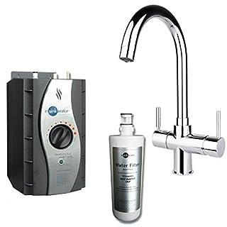 Insinkerator 3N1 J Shape Instant Hot Boiling & Mains Water Tap, Tank & Filter
