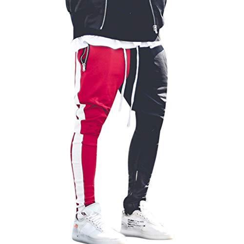 R-Cors Herren Elastische Taille Gürtel Baumwolle Jogging Sweat Hosen Plus Size Mode Lange Sports Cargo Hosen Shorts mit Taschen Joggers Activewear Hosen -