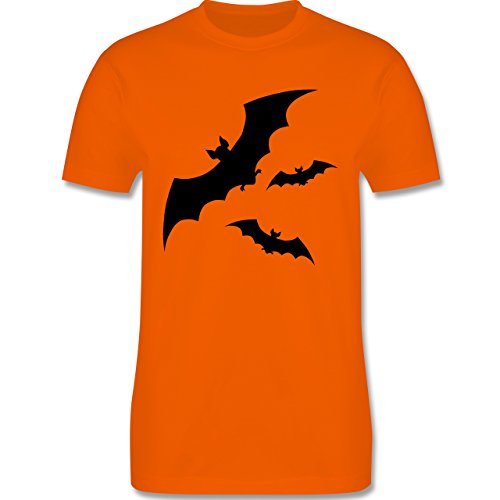 Halloween - Fledermaus - Herren Premium T-Shirt Orange