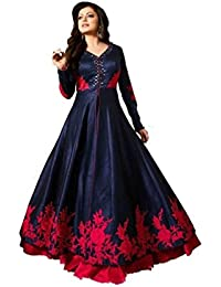 Suits For Women Indo-Western Party Wedding Wear Floor Length Gown/ Anarkali Suit/ Salwar Suit (STICHED)