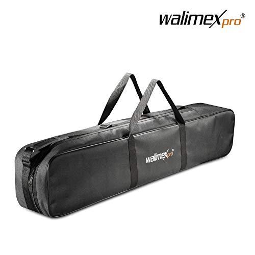 Walimex pro Stativtasche 98 cm für max. 4 Studiostative bis 96 cm - Tragetasche mit Schultergurt, praktisch und komfortabel, Dicker Polsterung, Aussen: 98x18x16 cm, Innen 96 x 17 x 14 cm