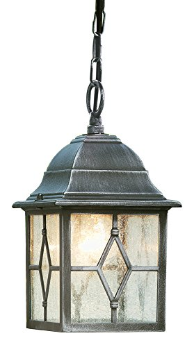 Searchlight Genoa Aluminium IP23 Black Silver Porch Light, Lead Decoration, Polycarbonat, Aluminiumguss 0