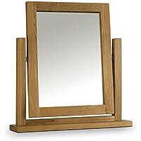 Julian Bowen-Tavolino da toletta Marlborough cerata con specchio, 50 x 30 x 53 cm, colore: quercia chiaro