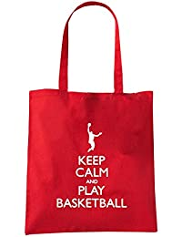 T-Shirtshock - Bolsa para la compra SP0094 Keep Calm and Play Basketball Maglietta