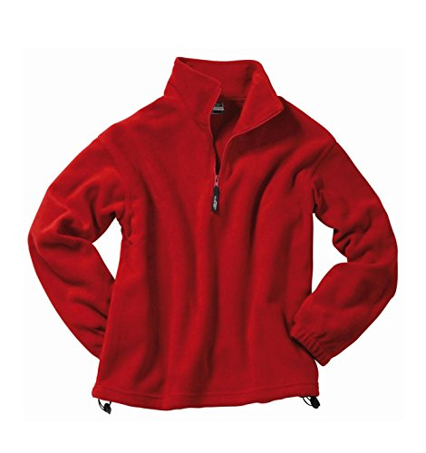 Felpa da uomo Sportiva in Fleece collo alto con metà-cerniera Maglione Sweat-shirt Hoodie in diversi colori Taglia S a 2XL Red
