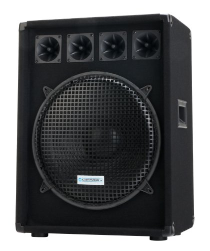 "McGrey DJ-1522 DJ PA Lautsprecher Box 38cm (15"") Subwoofer 800W (Passiv, 2-Wege System, Holzgehäuse, 35mm Flansch)"