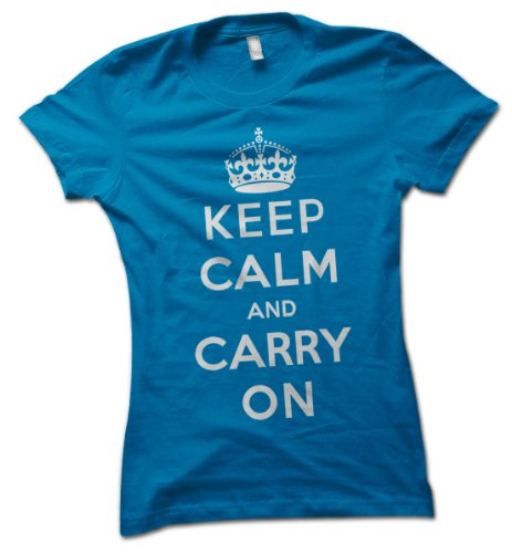 bybulldog® Keep Calm and Carry On Ladies T-Shirt British World War II Poster Choice of 8 Colours in Sizes S to XL