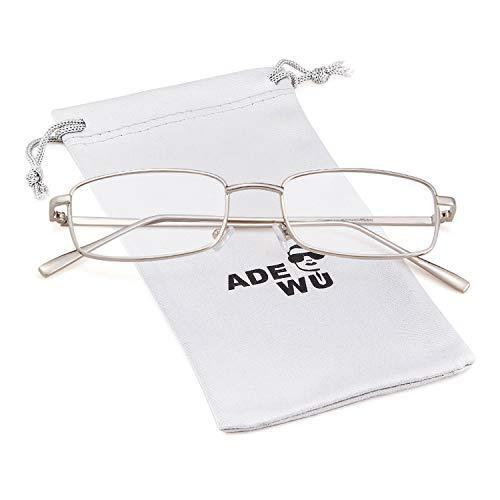 ADEWU Retro Sonnenbrille Rechteckig Vintage Ovale Brille für Damen Herren