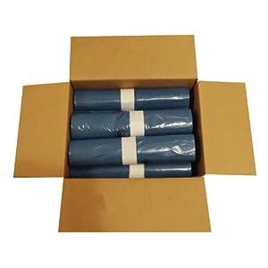 10 Rollen im Karton á 25 Heavy Duty Abfallsäcke (250 Stück), 120 Liter, absolut robust und stabil, 700×1100 mm, Stärke 39 my, Farbe blau