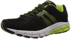 Columbus Mens Black and Green Mesh Running Shoes - 6 UK (SCOTLAND)