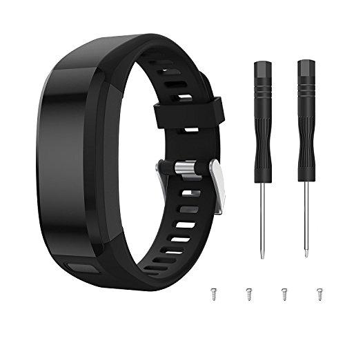 SUPORE Garmin Vivosmart HR Activity Tracker Ersatzarmband, Zubehör Verstellbares Weiches Silikon Ersatzarmband für Armbanduhren Entwickelt für Garmin Vivosmart HR Smart Watch