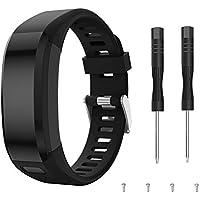 TOPsic Garmin Vivosmart HR Correa, Accesorios Banda de Reloj de Silicona Suave Ajustable Reemplazo diseñado para Garmin Vivosmart HR Smart Sport Reloj (no rastreador)