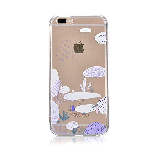Sunroyal Crystal Case Hülle für >          iPhone 7 Plus (5,5&quot;)         < aus TPU Silikon mit Giraffe Design ,TPU Case Schutzhülle Silikon Crystal Kirstall Clear Case Durchsichtig - Schutzhülle Cover klar in GiraffeTra Pattern 03