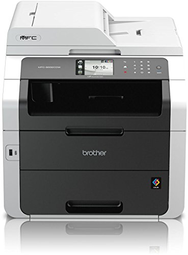 Brother MFC-9332CDW Kompaktes 4-in-1 LED Multifunktionsgerät (Drucken, scannen, faxen, 2.400x600dpi, USB 2.0 Hi-Speed, LAN/WLAN, Duplex) weiß/schwarz