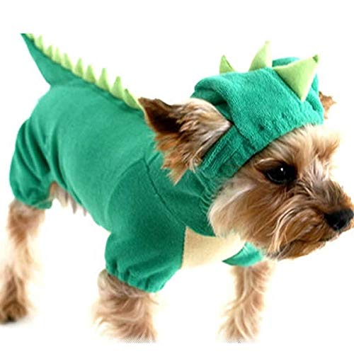Dinosaurier Hunde Grün Kostüm - GHYSTORM Dog Kleidung Cool Pet Dog Kostüm Anzug Puppy Kleidung Mantel Kleidung für Hund Kostüm Outfit Krankenschwester Haustier Anzug-Grüner Dinosaurier_S