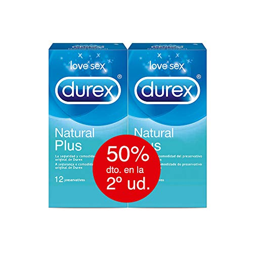 Durex Preservativos Natural Plus Pack Ahorro 2