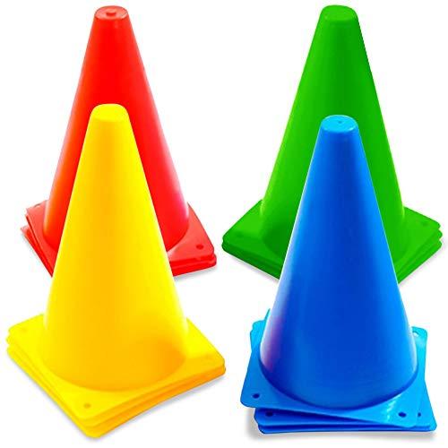 Los conos de tráfico multicolores tienen una gran variedad de usos. Son ideales para deportes, adiestramiento equino y canino, porterías de fútbol y rugby, y están fabricados con un material fuerte y resistente, por lo que pueden usarse innumerables ...