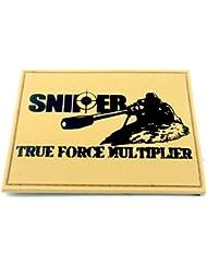 SNIPER True Force Multiplier Caqui PVC Airsoft Velcro Patch
