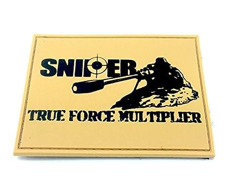 SNIPER True Force Multiplier Hellbraun PVC Klett Emblem Abzeichen