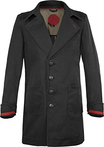 Musterbrand-Assassins-Creed-Trench-Coat-Herren-Cormac-Jacke-Schwarz