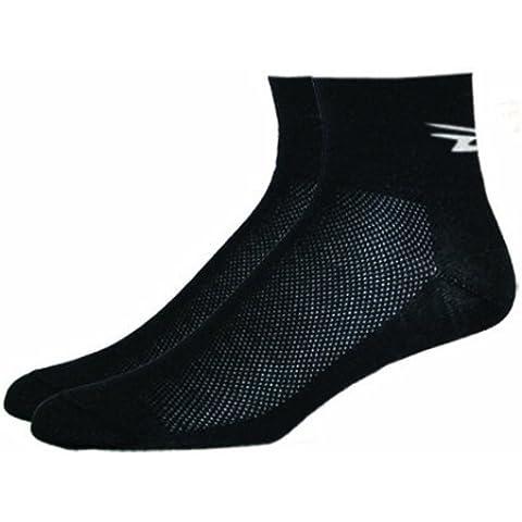 DeFeet-Calze da ciclismo Aireator D-Logo ® Calzini Coolmax EcoMade, colore: nero nero nero XL: