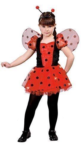 Mädchen Lucky Ladybird Animal Insekten Käfer Marienkäfer Gepunktet Buch Tag Kostüm Verkleidung Outfit 5-12 - Rot, EU (Kostüme Flügel Marienkäfer)