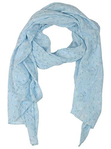 Sciarpa in seta da donna, motivo floreale, by zwillingsherz ✿ ✿ accessorio elegante scialle/sciarpa/stola/foulard pashmina/scialle/✿ blu taglia unica