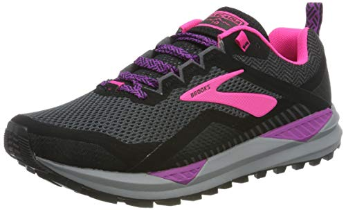 Brooks Cascadia 14, Scarpe da Running Donna, Nero (Black/Hollyhock/Pink 063), 41 EU